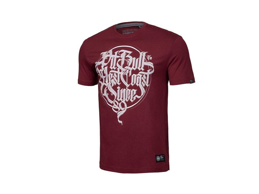 PitBull West Coast PBINSIDE 19 burgundy tričko pánske