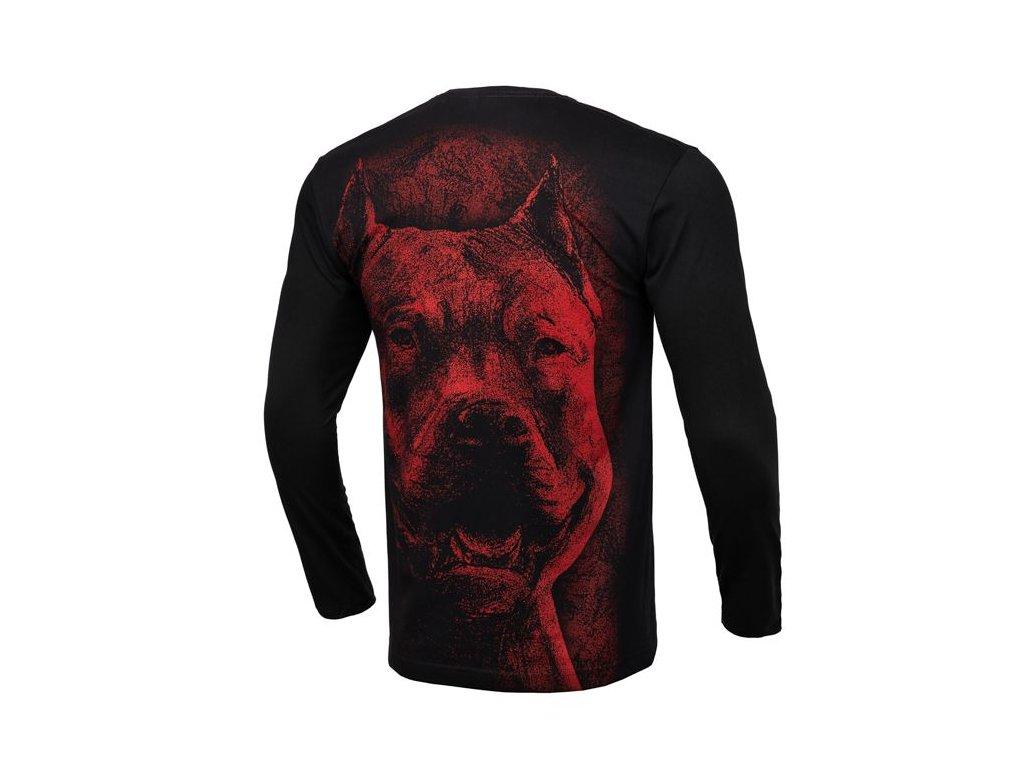 PitBull West Coast RED NOSE 2019 black tričko pánske s dlhým rukávom