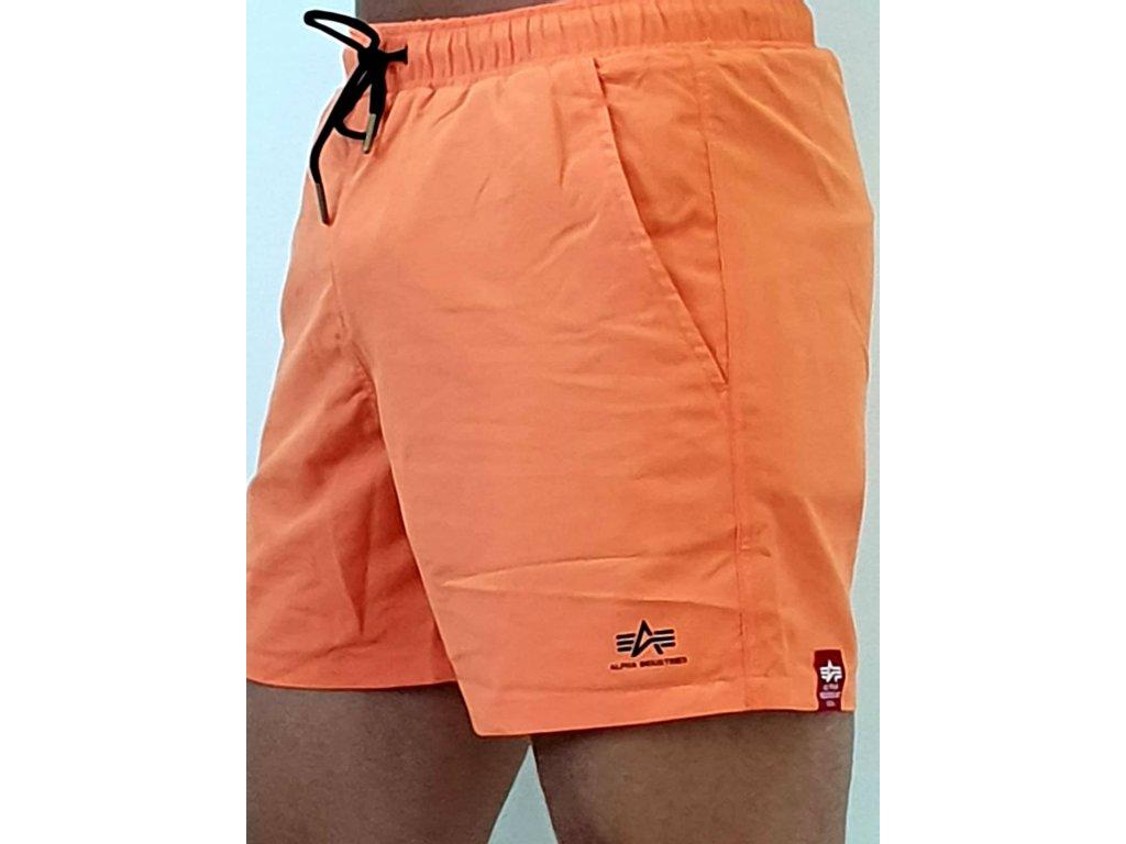 Alpha Industries plavkové šortky BASIC SWIM SHORT orange