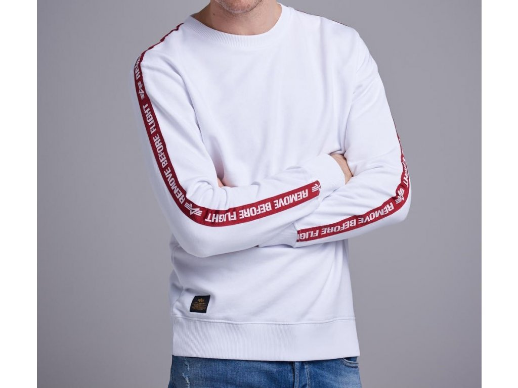 Alpha Industries RBF Tape Sweater White mikina pánska