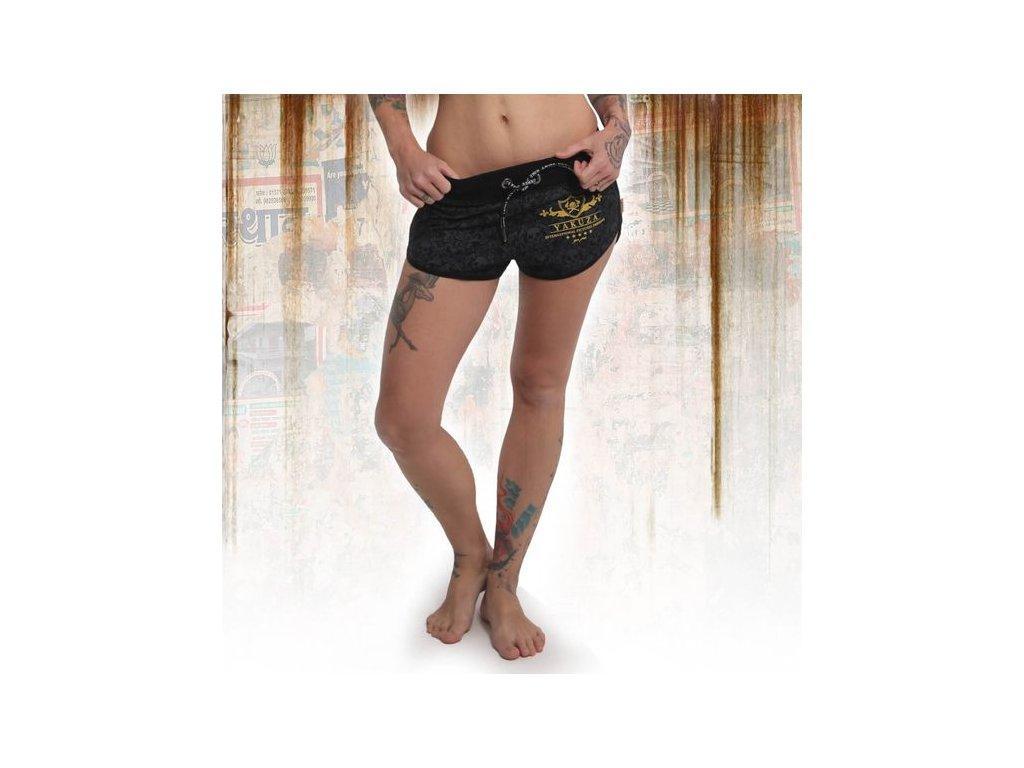 Yakuza dámske šortky CREST GSSB 14130 black