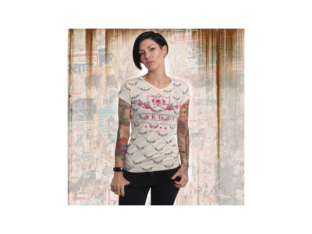 Yakuza CREST V NECK dámske tričko GSB 14141 afterglow