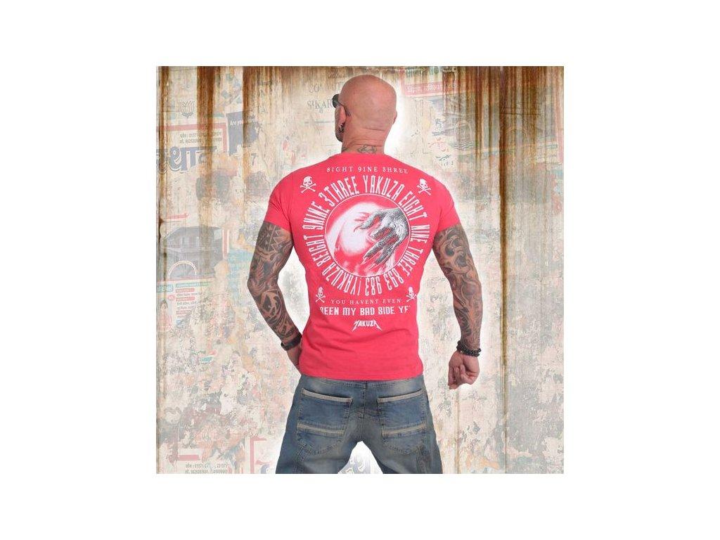 Yakuza BAD SIDE tričko pánske TSB 14049 geranium