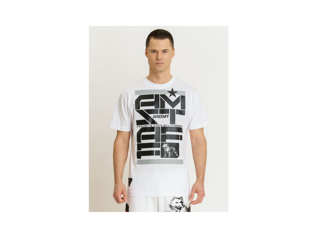 Amstaff tričko DERKY white