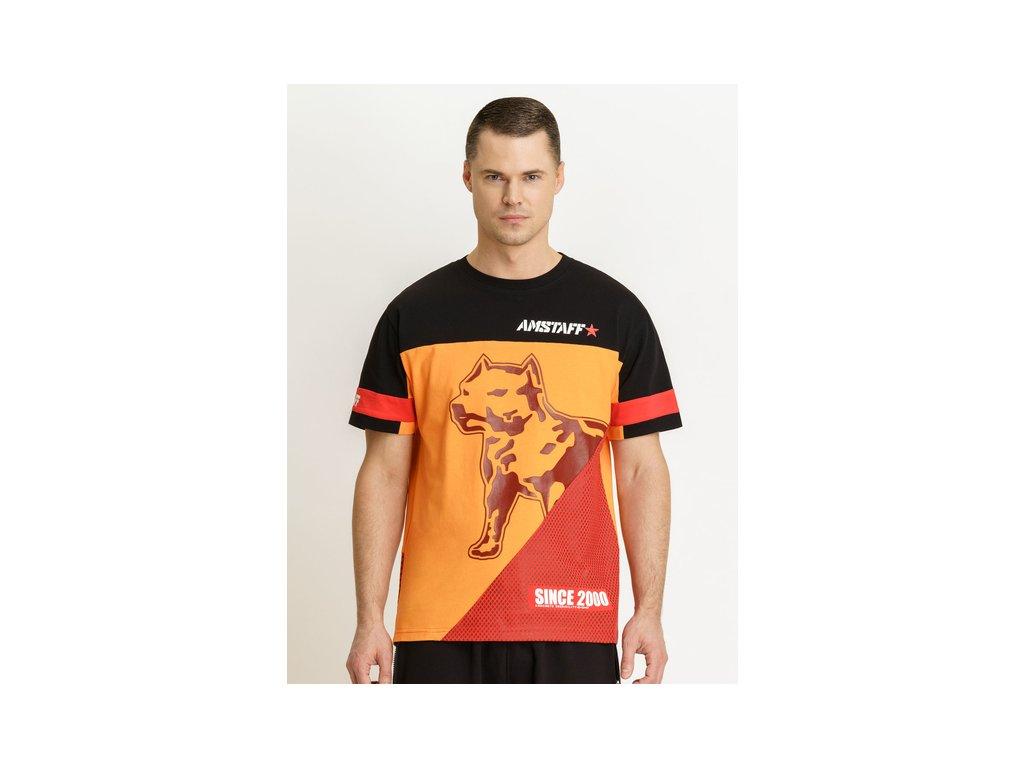 Amstaff tričko Asher black orange