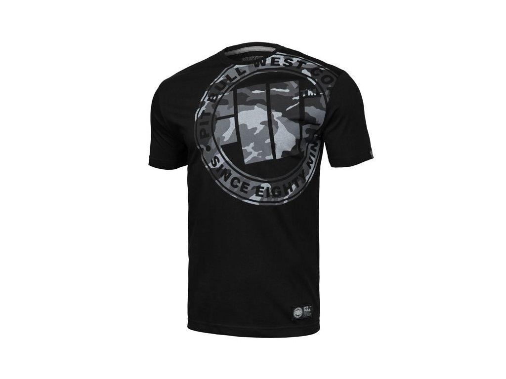 PitBull West Coast ALL BLACK CAMO black tričko pánske