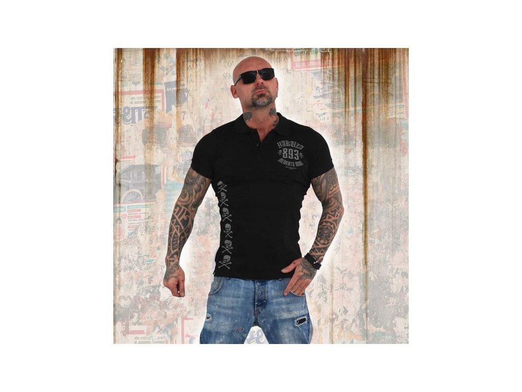 Yakuza polo tričko MEMENTO MORI TPO 14068 black