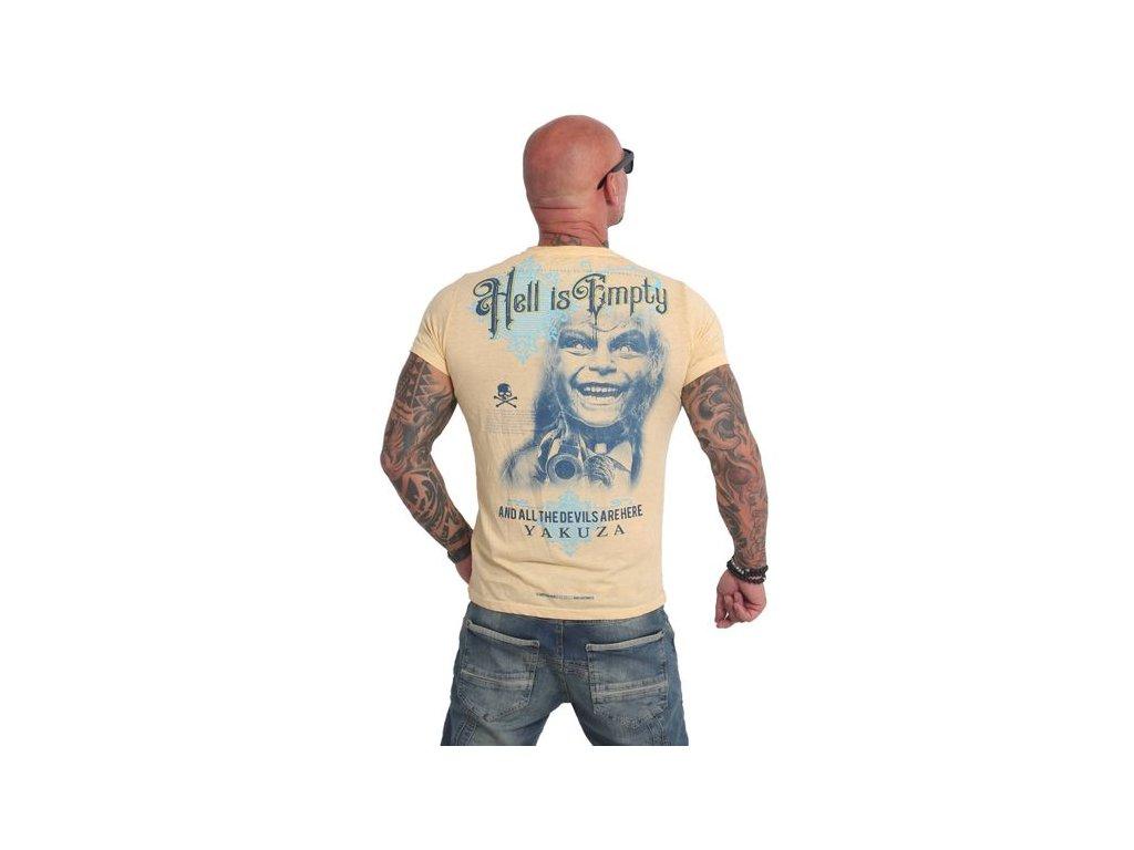 Yakuza HELL IS EMPTY burnout tričko pánske TSB 14061 pale marigold