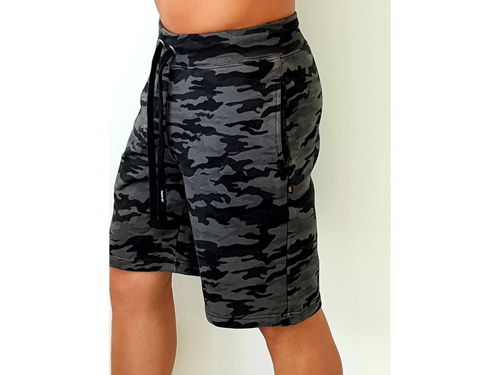Alpha Industries X-Fit Short pánske šortky black camo