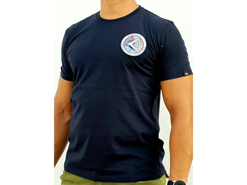 Alpha Industries APOLLO 15 T tričko pánske rep blue