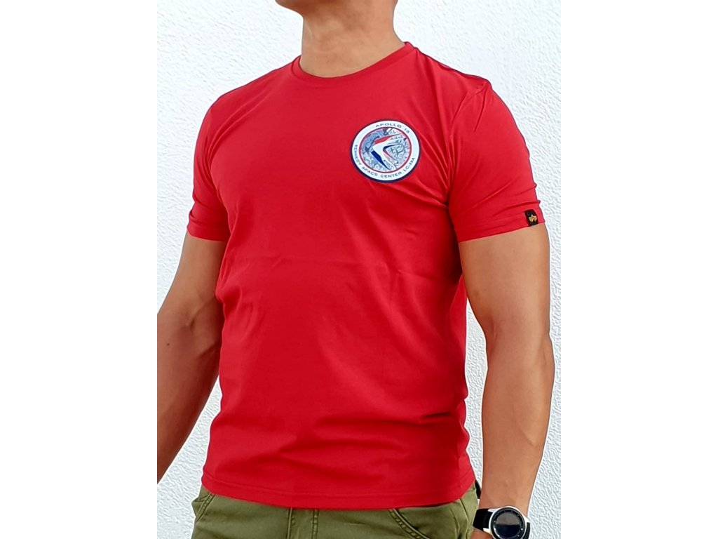 Alpha Industries APOLLO 15 T tričko pánske speed red