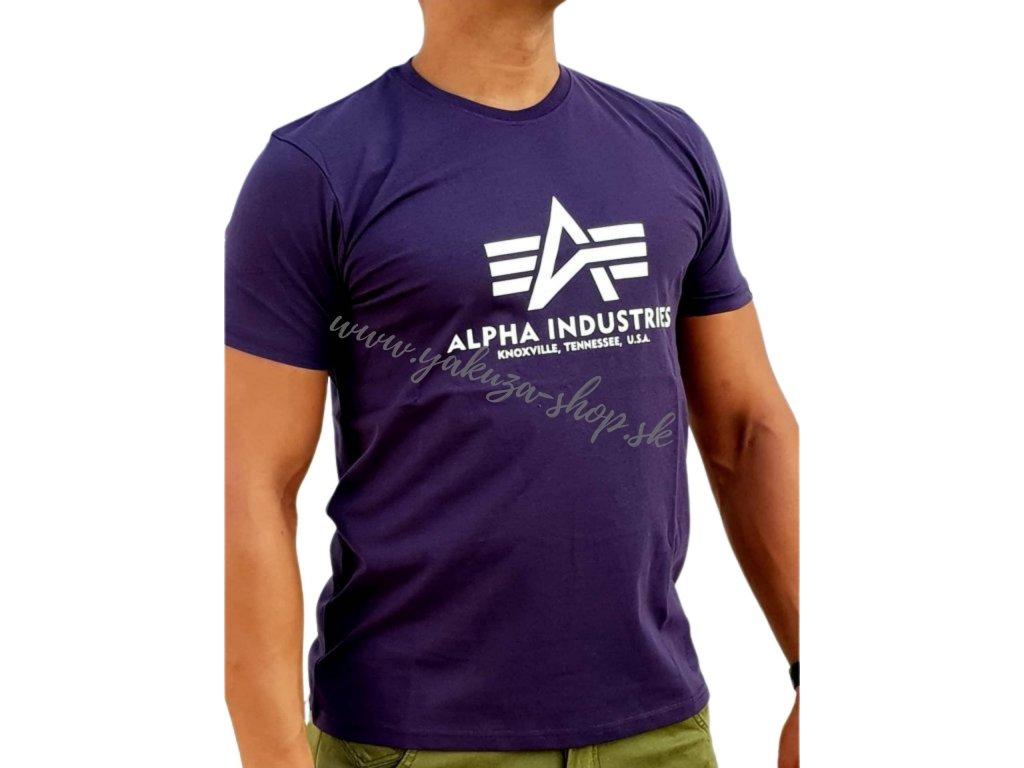 Alpha Industries Basic T Shirt tričko pánske nightside A