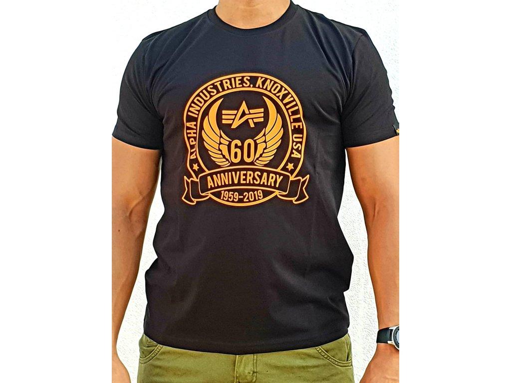 Alpha Industries ANNIVERSARY T black tričko pánske