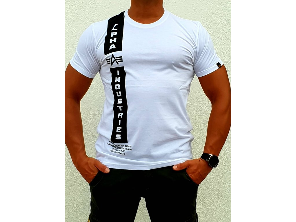 Alpha Industries DEFENCE T white tričko pánske
