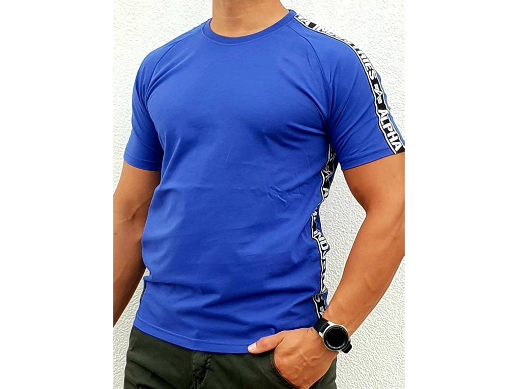 Alpha Industries AI TAPE T nautical blue tričko pánske