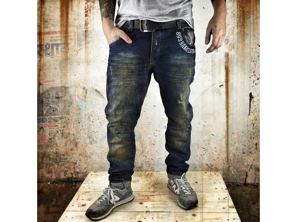 Yakuza jeansy pánske JEB 557 bronze vintage