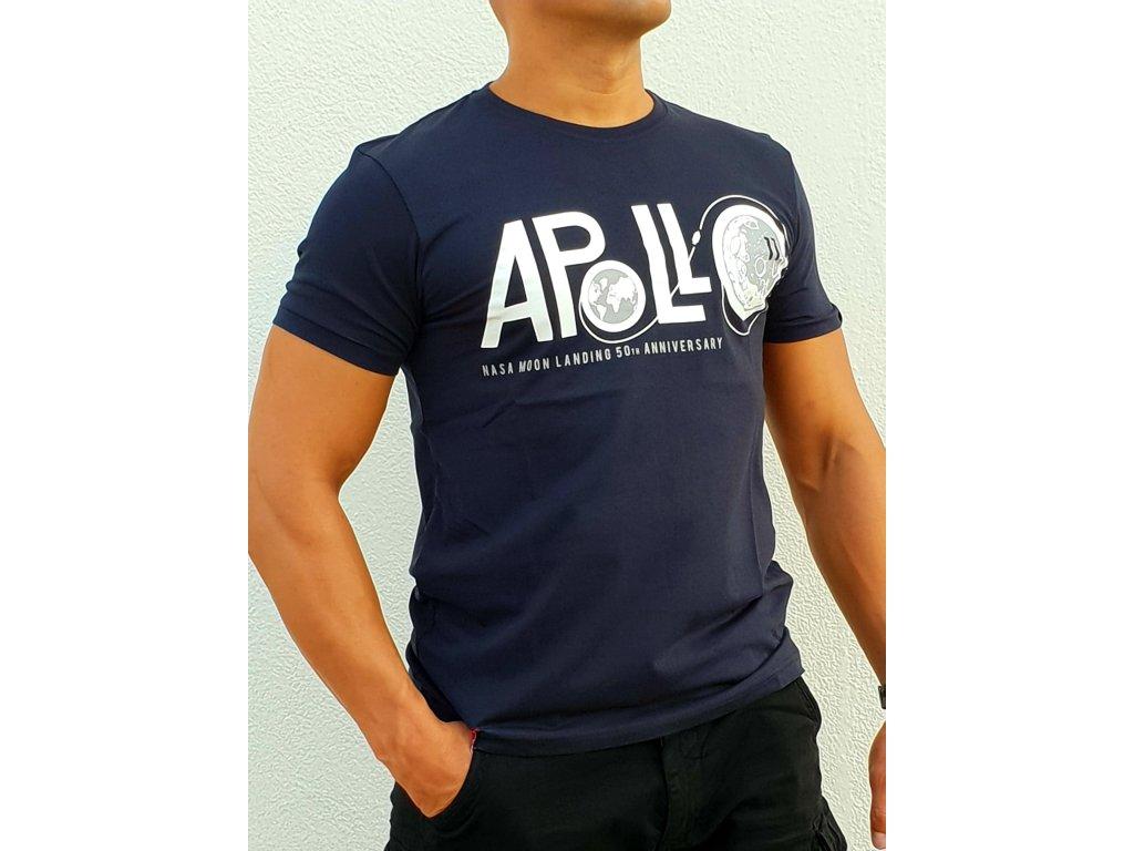 Alpha Industries Apollo 50 T rep blue tričko pánske