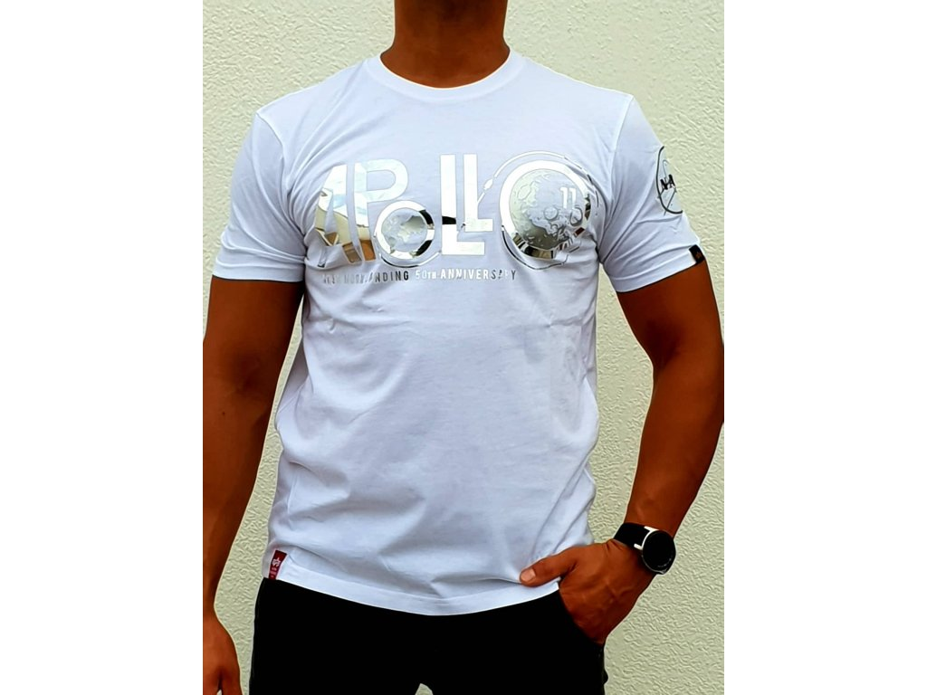 Alpha Industries Apollo 50 PM T white tričko pánske