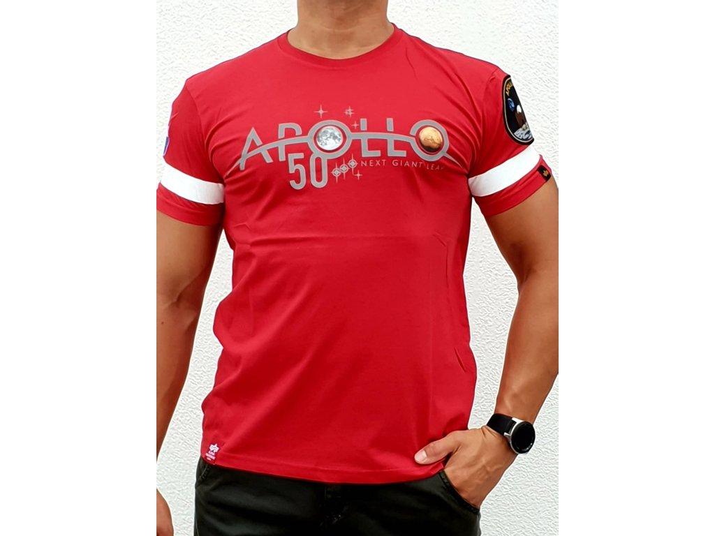 Alpha Industries Apollo 50 Reflective T speed red tričko pánske