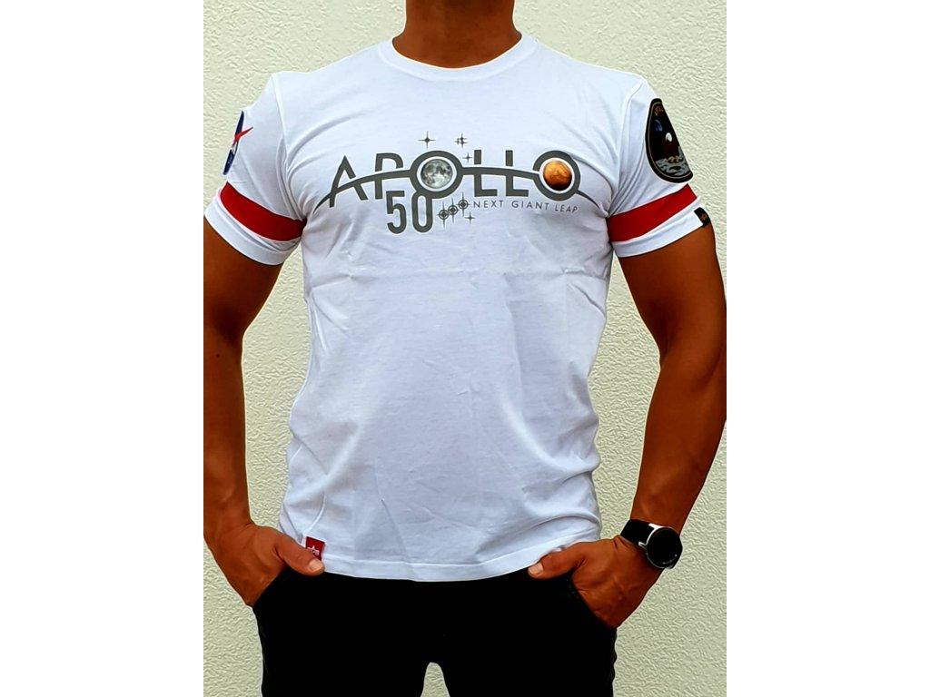 Alpha Industries Apollo 50 Reflective T white tričko pánske