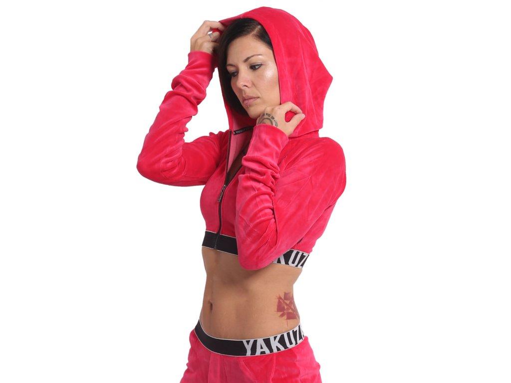 Yakuza S&F Sports Line Active dámska mikina na zips GHZB 14503 rose red