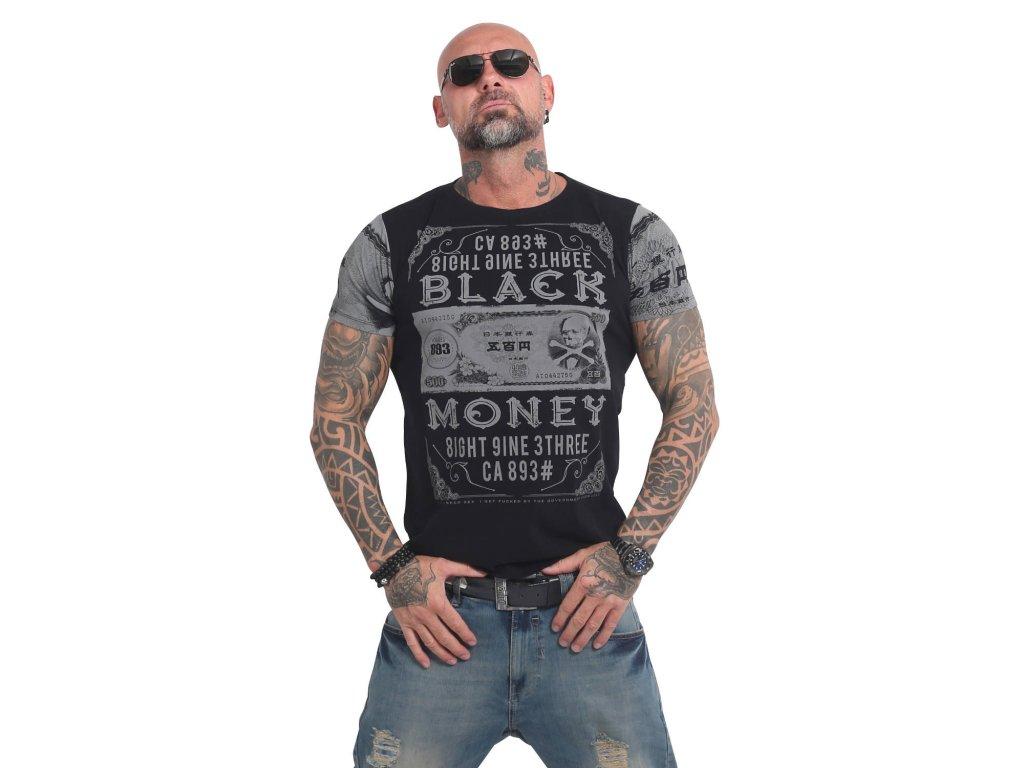 Yakuza BLACK MONEY tričko pánske TSB 14048 black