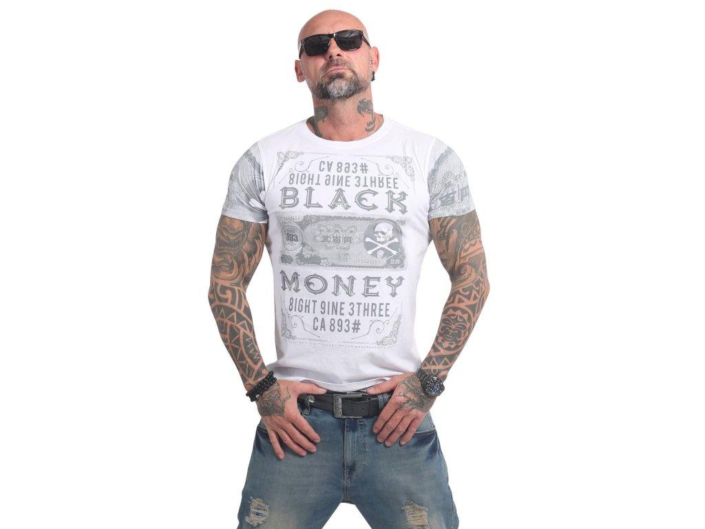 Yakuza BLACK MONEY tričko pánske TSB 14048 white