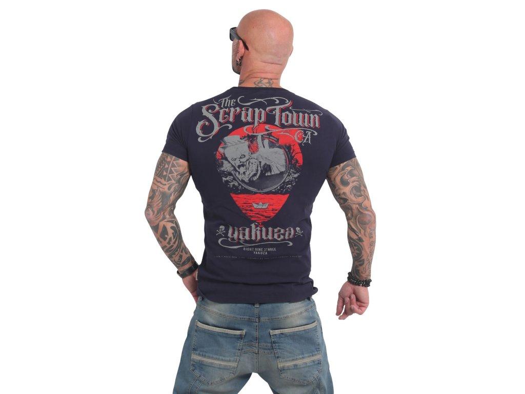 Yakuza SCRAP TOWN tričko pánske TSB 14052black