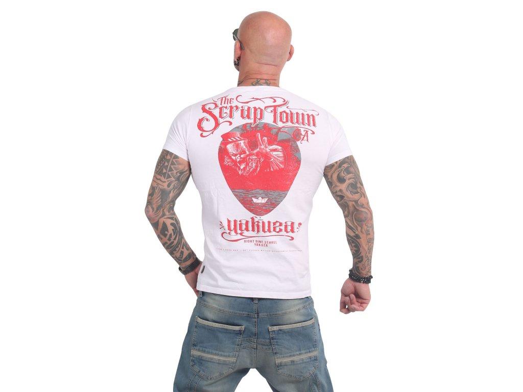 Yakuza SCRAP TOWN tričko pánske TSB 14052white