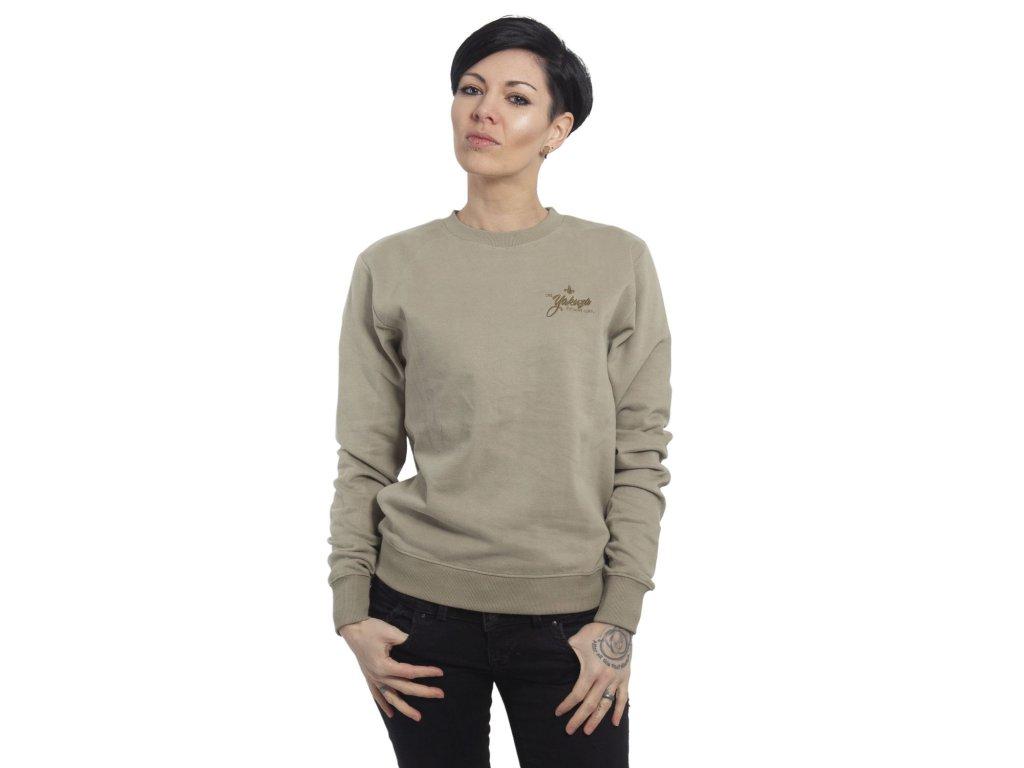 Yakuza mikina dámska Basic Line Script Sweatshirt GPB 14140 boa