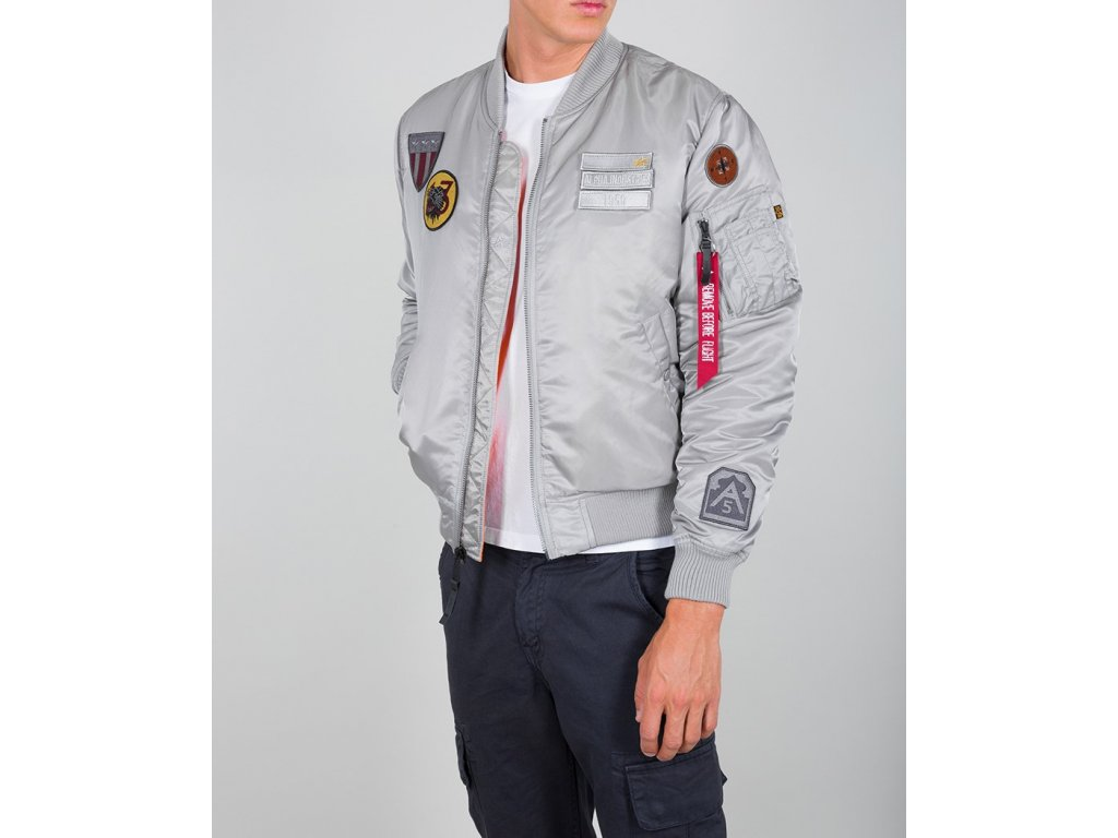 Alpha Industries MA-1 Air Force zimná bunda silver