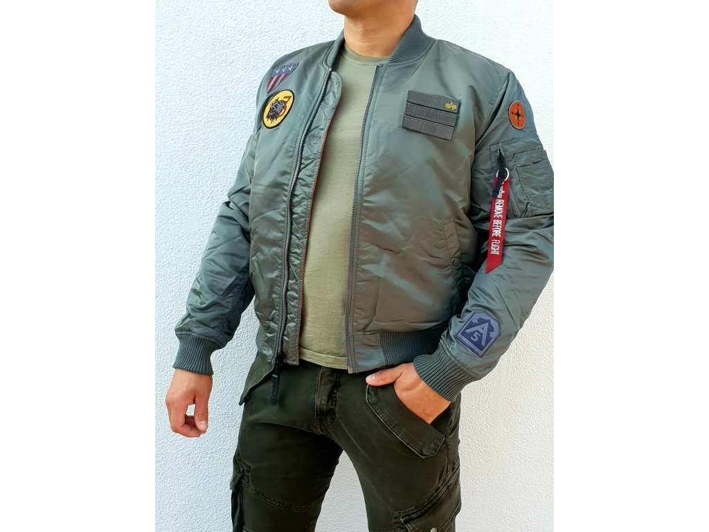 Alpha Industries MA-1 Air Force zimná bunda vintage green