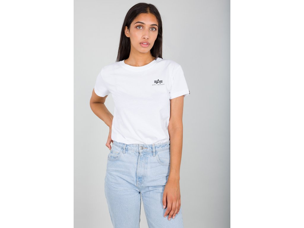 Alpha Industries Basic Small Logo T Wmn white dámske tričko