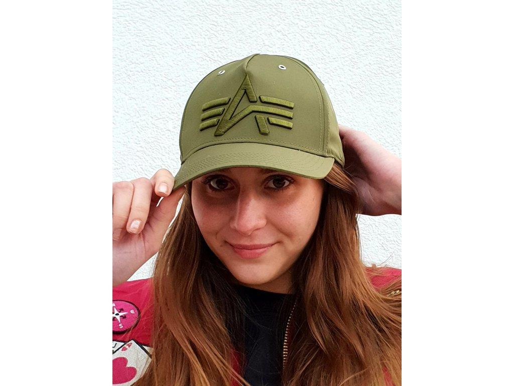 Alpha Industries Flight Cap šiltovka dark green