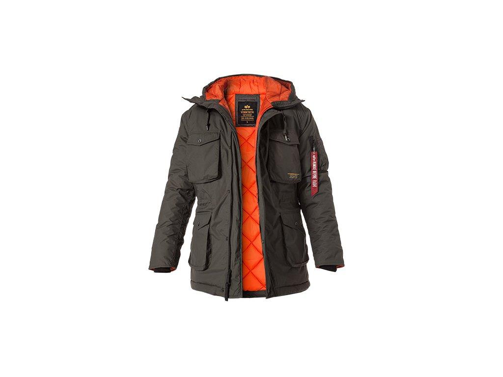 Alpha Industries All Weather Jacket pánska zimná bunda greyblack