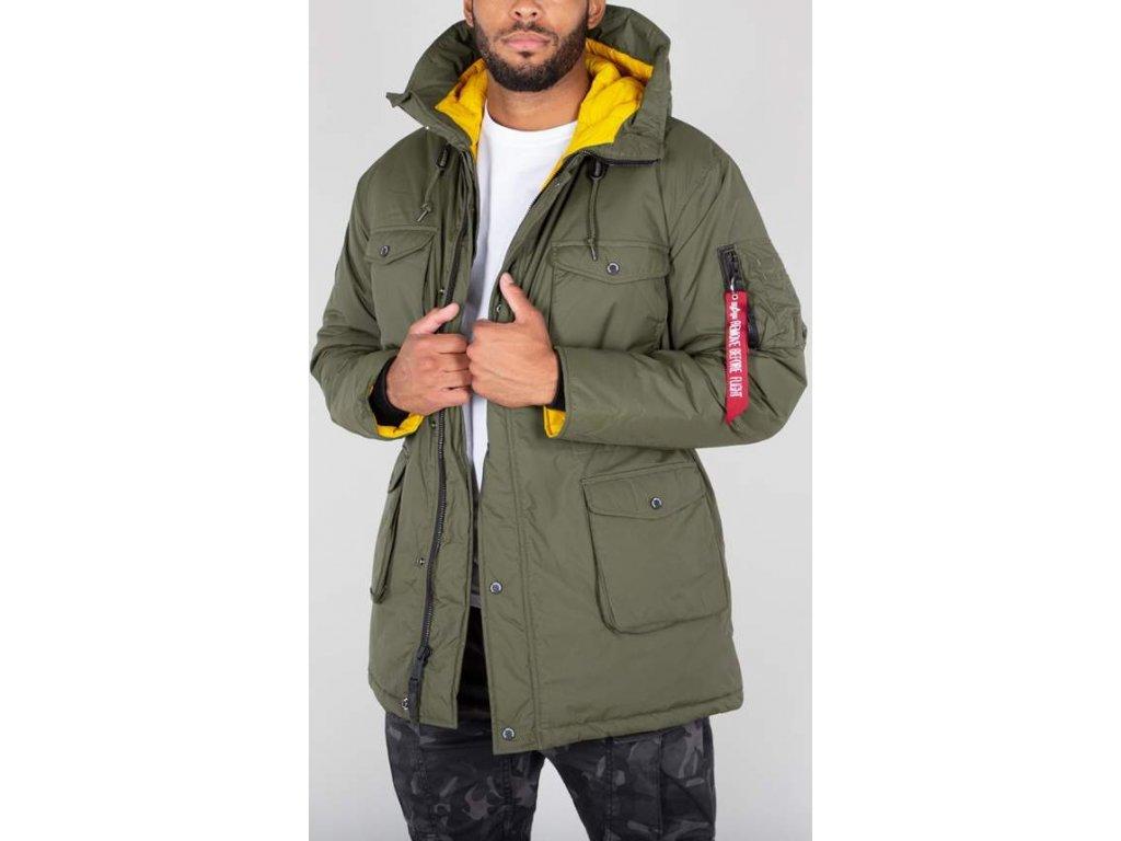 Alpha Industries All Weather Jacket pánska zimná bunda dark green