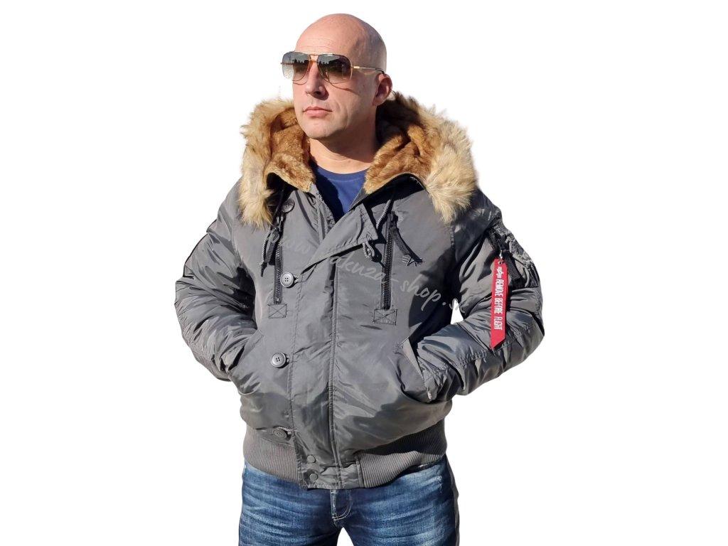 Alpha Industries zimná bunda PPS N2B greyblack
