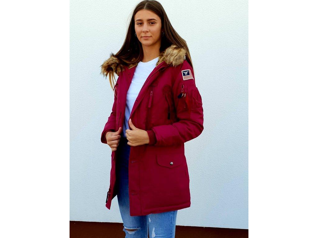 Alpha Industries Polar Jacket Wmn dámska zimná bunda major red