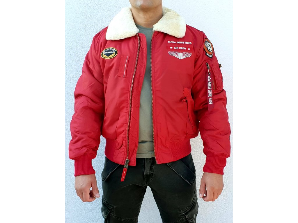 Alpha Industries INJECTOR III AIR FORCE zimná bunda speed red