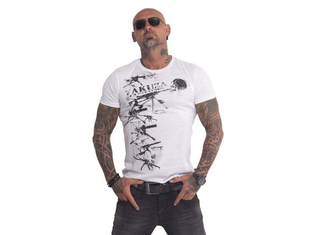 Yakuza CUSTOMS tričko pánske TSB 407 white