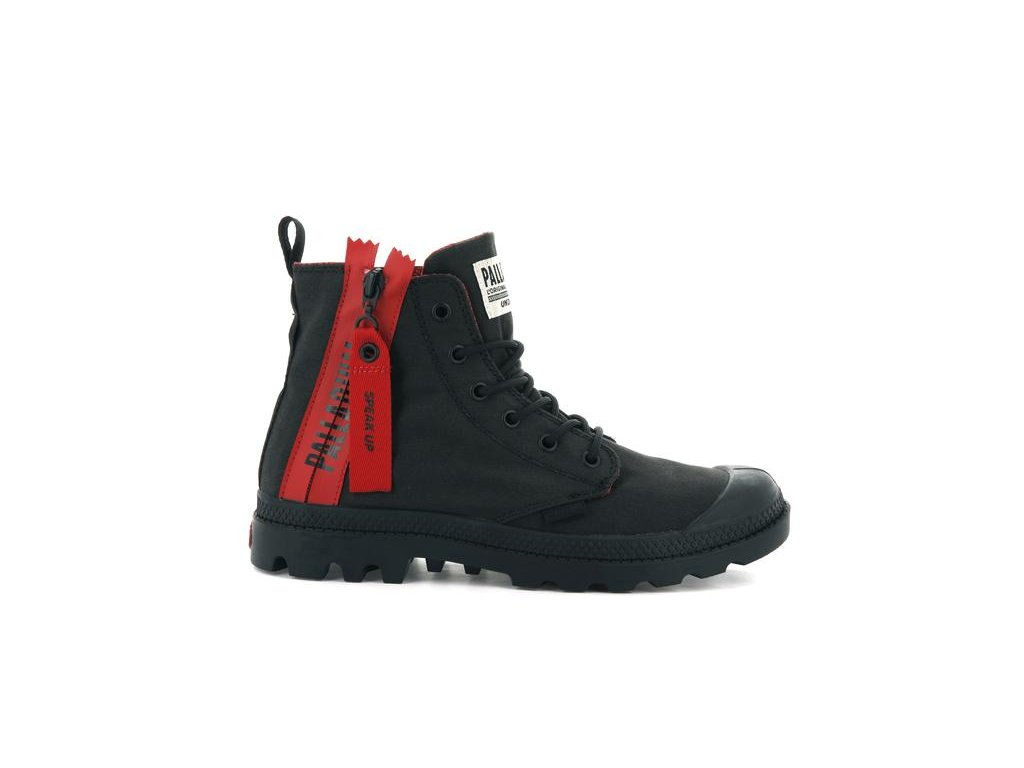Palladium módne topánky PAMPA UNZIPPED BLACK