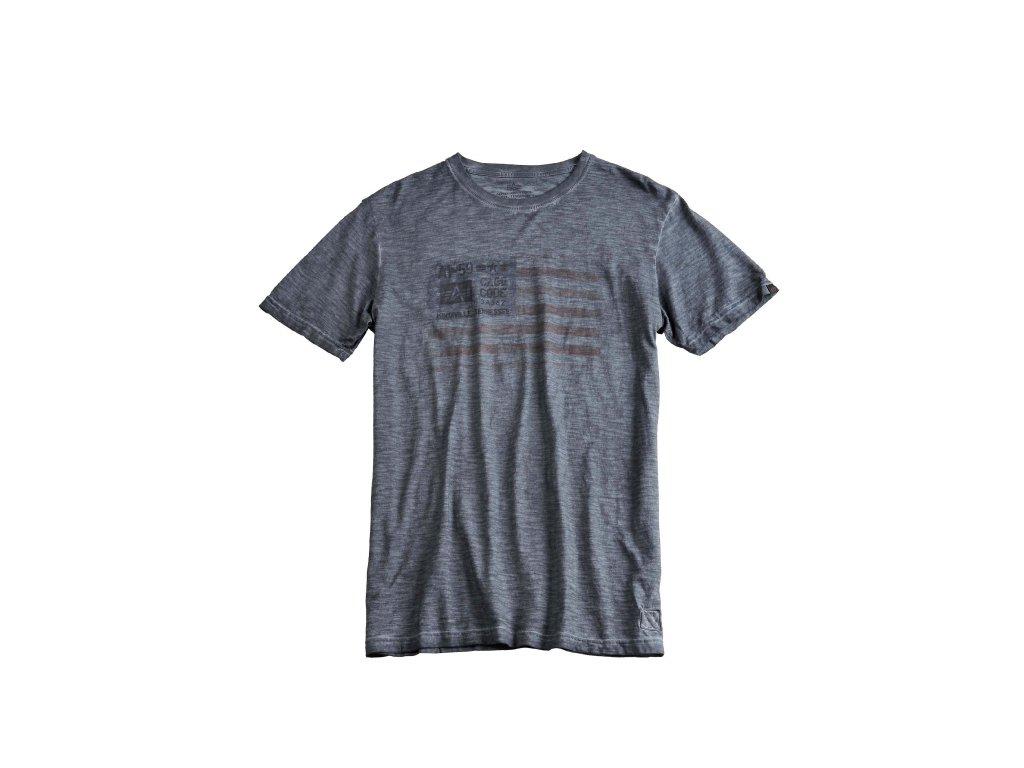 Alpha Industries Cage Code T greyblack tričko pánske