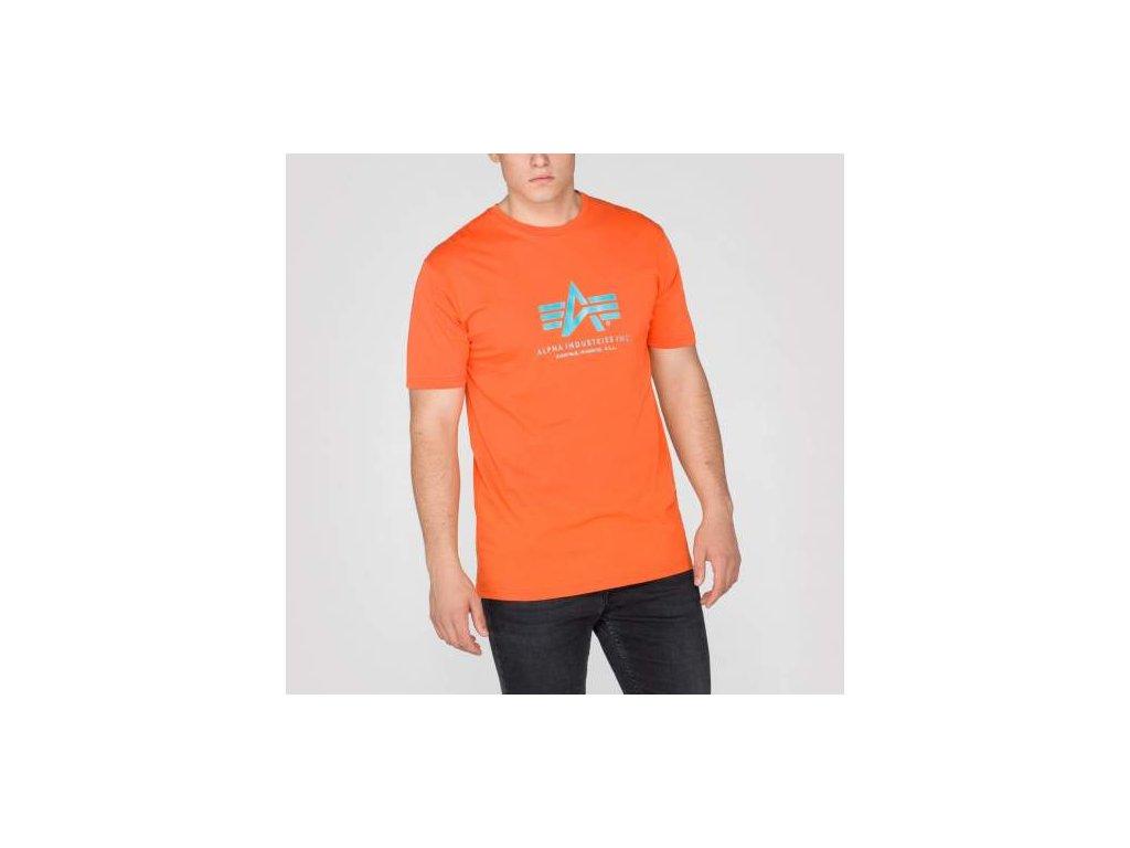 Alpha Industries Basic T-Shirt Orange tričko pánske