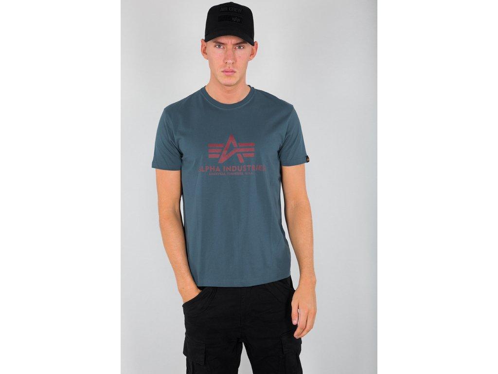 Alpha Industries Basic T Shirt Bold Blue tričko pánske