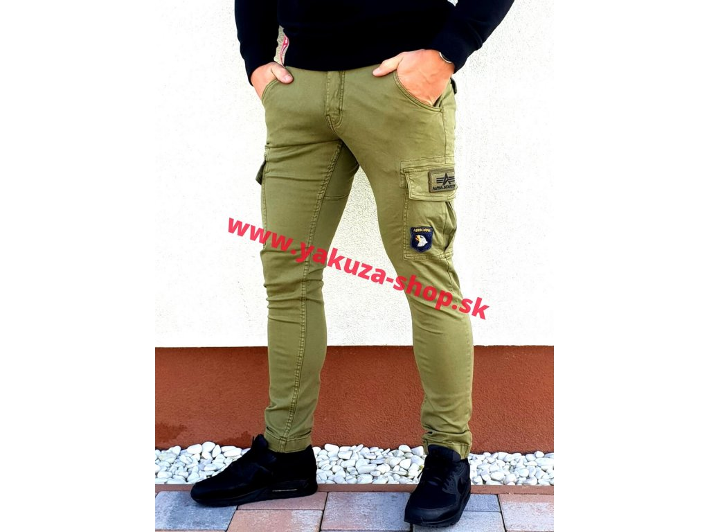 Alpha Industries nohavice Petrol patch Pant olive