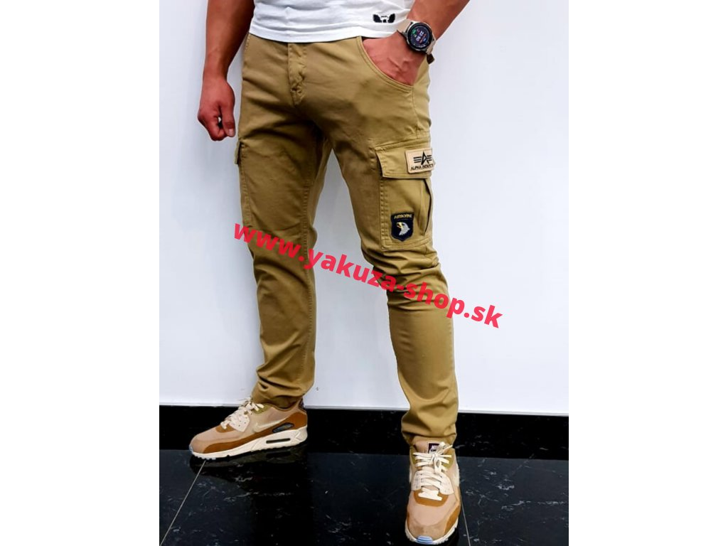 Alpha Industries nohavice Petrol patch Pant sand