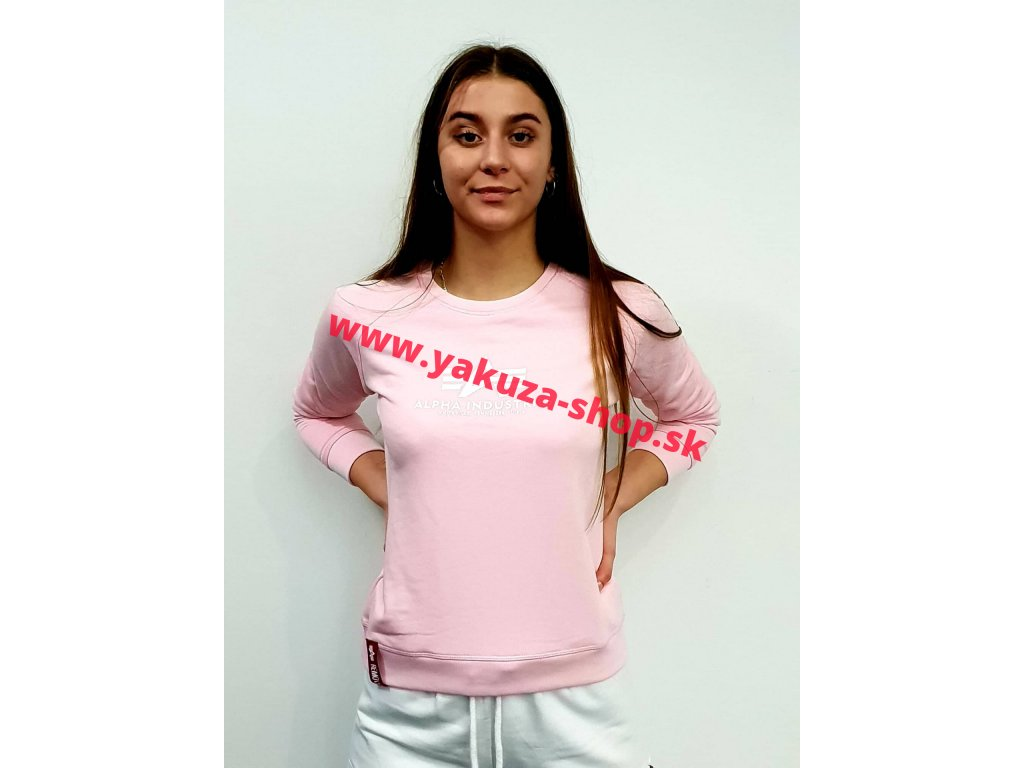 Alpha Industries dámska mikina New Basic Sweat Wmn pastel pink