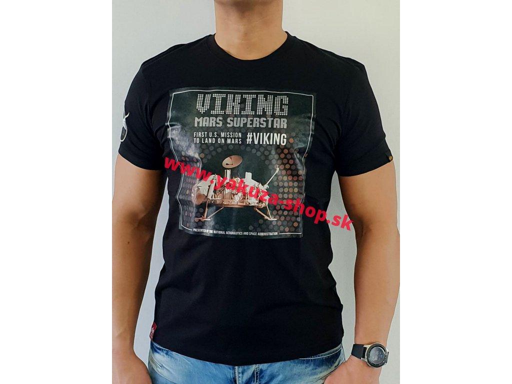 Alpha Industries VIKING SUPERSTAR T tričko pánske black/chrome