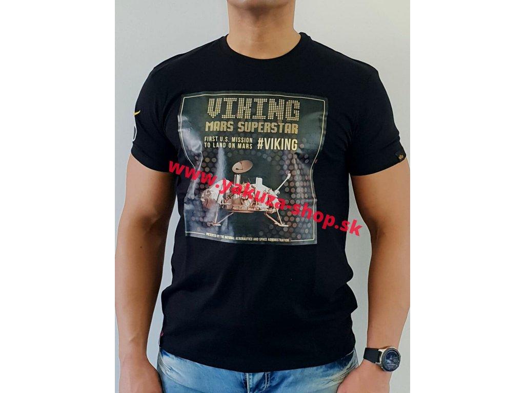 Alpha Industries VIKING SUPERSTAR T tričko pánske black/gold