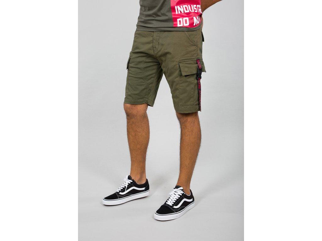 Alpha Industries RBF Clip Short Dark Green pánske šortky